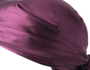 close up of the quality silk durag