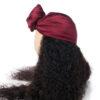 Bordeaux Pure Silk Head Wrap