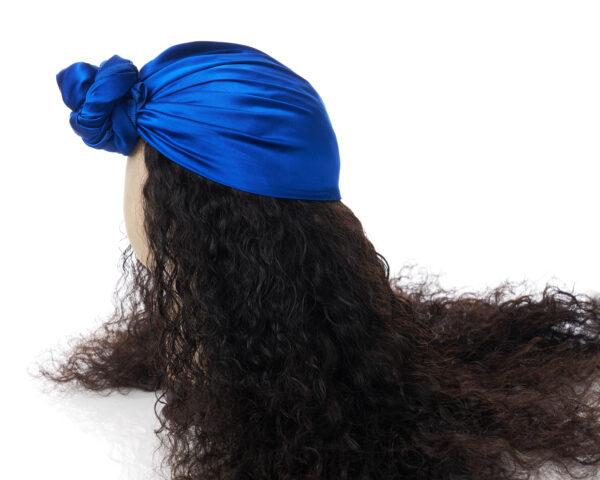 Royal Blue Silk Head Wrap