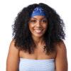 Sapphire Blue Silk Edge Scarf
